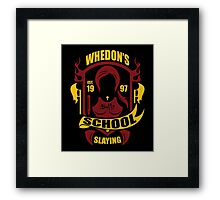 School of Slaying Framed Print
