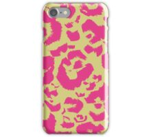 Pink and Lemon Lime Leopard Animal Print  iPhone Case/Skin