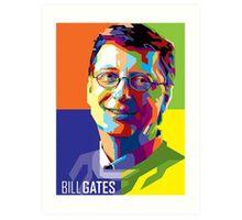 Bill Gates | PolygonART Art Print