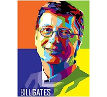 Bill Gates | PolygonART Photographic Print