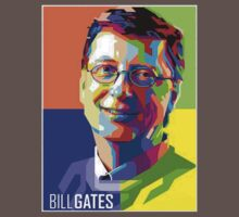 Bill Gates | PolygonART One Piece - Short Sleeve