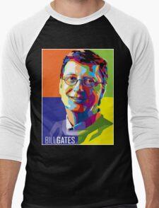 Bill Gates | PolygonART Men's Baseball ¾ T-Shirt
