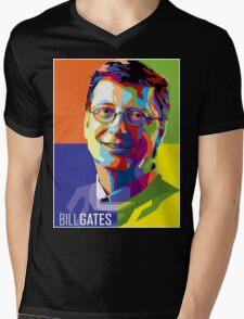 Bill Gates | PolygonART Mens V-Neck T-Shirt