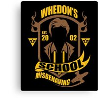 School of Misbehaving Canvas Print