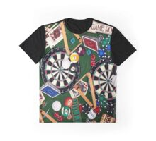 Game Room Billiards Darts & Cards Graphic T-Shirt
