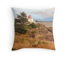 Painterly Lighthouse Throw Pillow