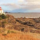 Painterly Lighthouse by Tracy Friesen