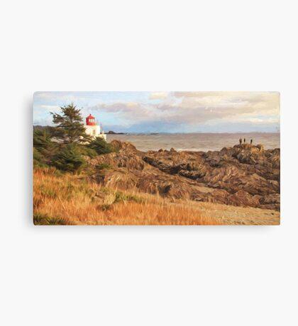 Painterly Lighthouse Canvas Print