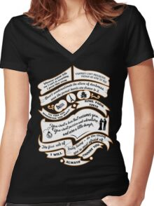 TVD Quotes. The Vampire Diaries. Women's Fitted V-Neck T-Shirt