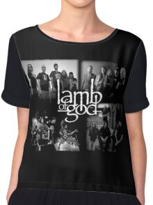 LAMB OF GOD black waite color Chiffon Top