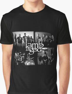 LAMB OF GOD black waite color Graphic T-Shirt