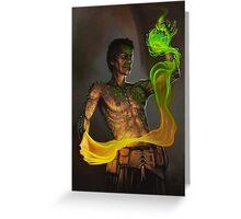 Tattooed Sorcerer Greeting Card