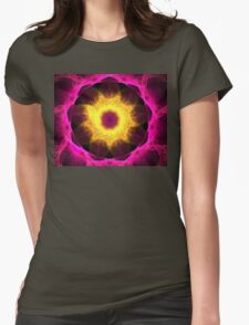 Pink Iris Womens Fitted T-Shirt
