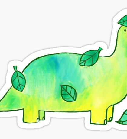 Leaf Dinosaur Watercolor Sticker