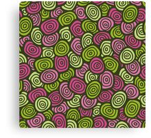 colorful doodle  pattern Canvas Print