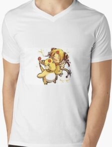 Human with Amphroas Mens V-Neck T-Shirt