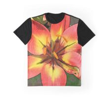 Photoshop lily in red Graphic T-Shirt
