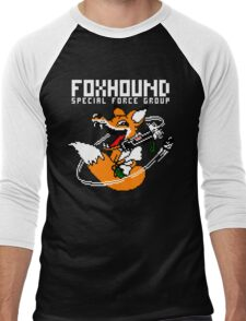 FOXHOUND PIXELART FOX WHITE Men's Baseball ¾ T-Shirt