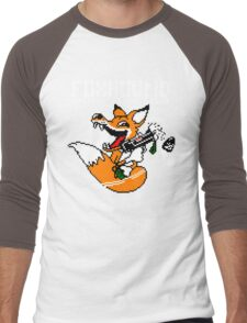 FOXHOUND PIXELART FOX WHITE Men's Baseball ¾ T-Shirt