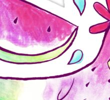 Watermelon Axolotl Watercolor Sticker