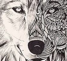 Mandala wolf vol.2 Sticker