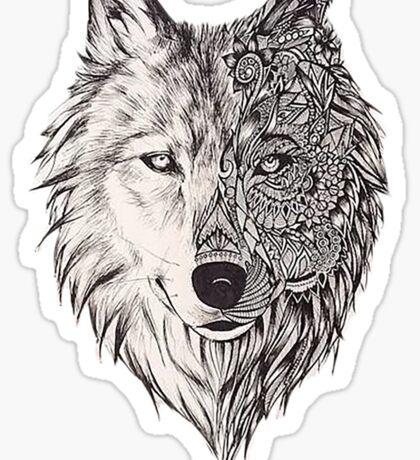 Mandala wolf vol.2 Sticker