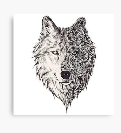 Mandala wolf vol.2 Canvas Print