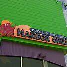 Colorful Hamburger Joint on the Boardwalk by Buckwhite