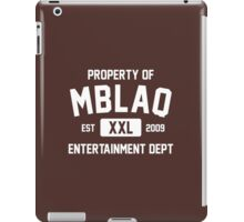 Property of MBLAQ (White Ver) iPad Case/Skin
