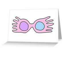 Luna Lovegood Glasses Greeting Card