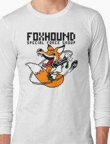 FOXHOUND PIXELART FOX BLACK Long Sleeve T-Shirt