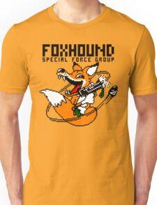 FOXHOUND PIXELART FOX BLACK Unisex T-Shirt