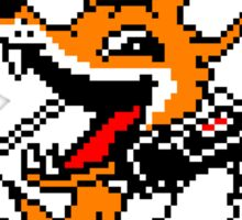 FOXHOUND PIXELART FOX BLACK Sticker