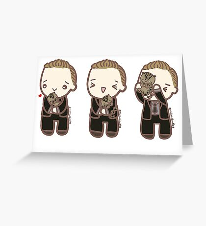 Tom Hiddleston and the baby leopard Greeting Card