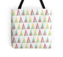Vector geometric background. Colorful triangles theme Tote Bag