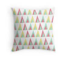 Vector geometric background. Colorful triangles theme Throw Pillow