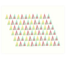 Vector geometric background. Colorful triangles theme Art Print