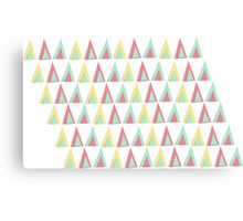 Vector geometric background. Colorful triangles theme Canvas Print