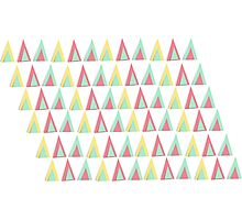 Vector geometric background. Colorful triangles theme Photographic Print