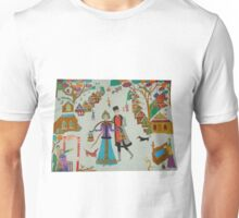 Russian Village in Winter Unisex T-Shirt