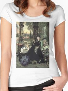Vintage famous art - James Tissot - The Widow Women's Fitted Scoop T-Shirt