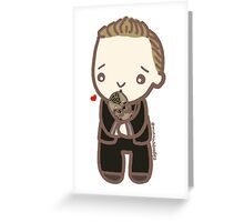 Tom Hiddleston & Baby Leopard Greeting Card