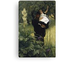 Vintage famous art - James Tissot - The Widower Canvas Print
