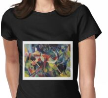 Expressionist Franz Marc - Deer in the Garden Womens Fitted T-Shirt
