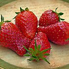 Still Life with Strawberries by Susan S. Kline
