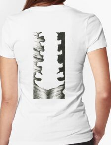 Anatomical Spine Womens Fitted T-Shirt