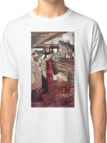 Vintage famous art - James Tissot - Waiting At The Station  Classic T-Shirt