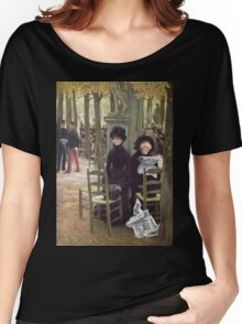 Vintage famous art - James Tissot - Without A Dowry Women's Relaxed Fit T-Shirt
