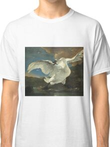 Vintage famous art - Jan Asselyn - The Threatened Swan Classic T-Shirt