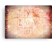 Love You - Valentine Canvas Print